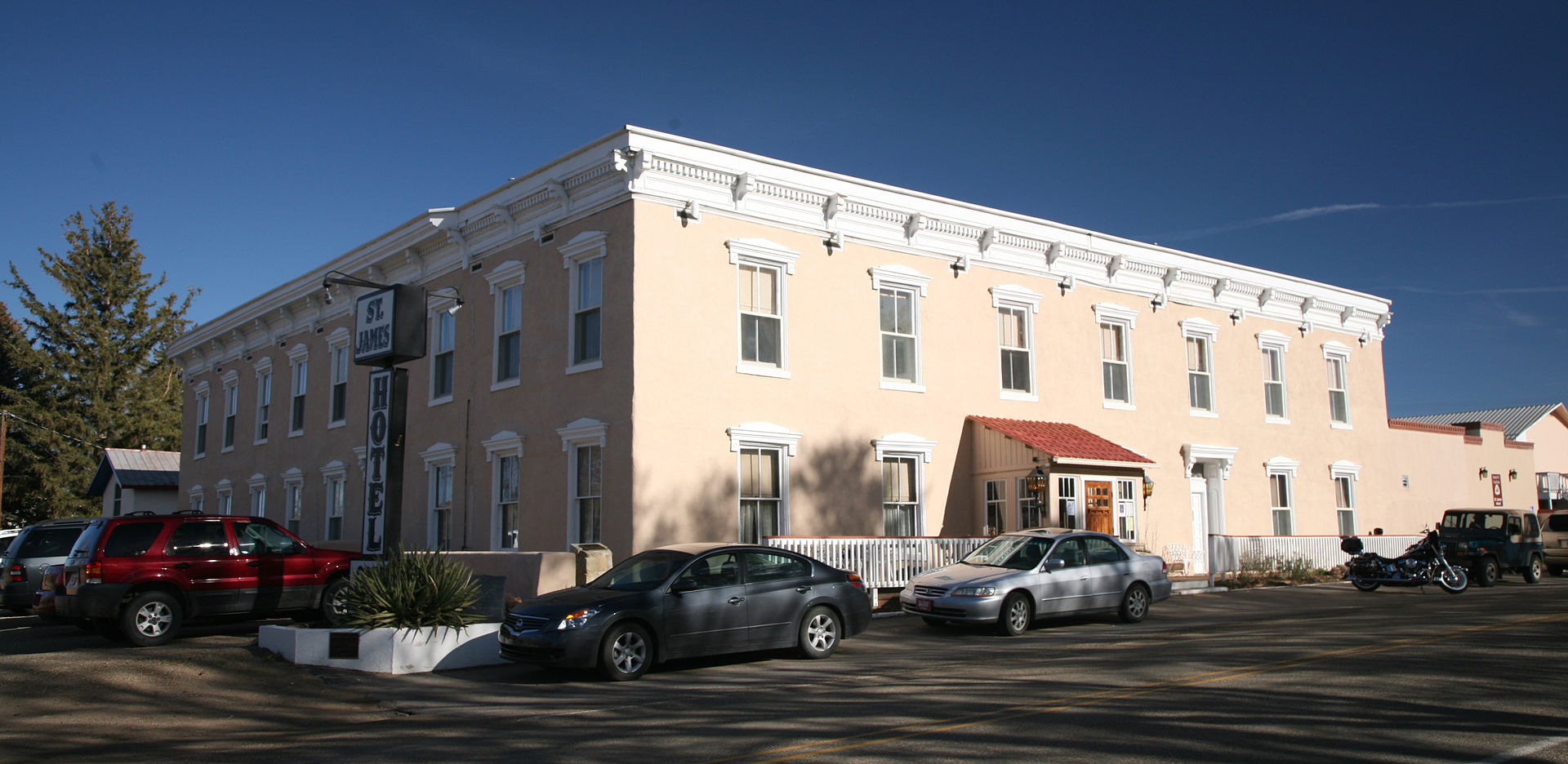 Historic St. James Hotel in Cimarron, New Mexico
